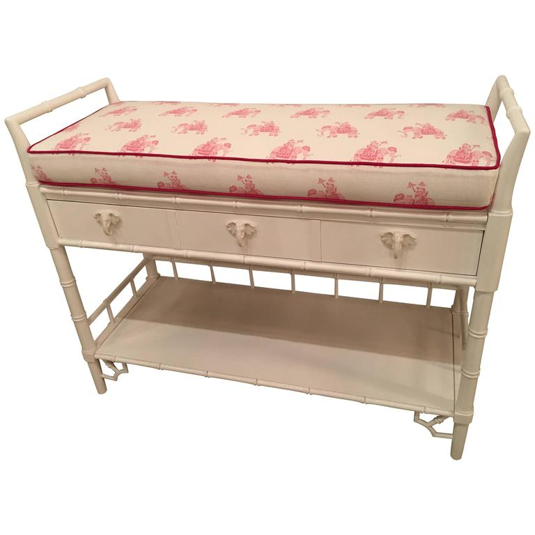 Faux Bamboo Baby Changing Table Lilly Pulitzer Elephant