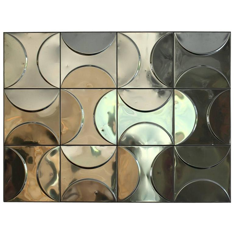 1970s Wall Panel with Kinetic Decoration
