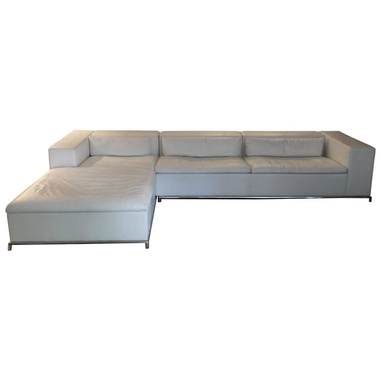DS-7 For De Sede Modular White Leather Sectional By
