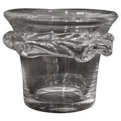 Daum France,Sorcy Crystal Vase, Signed, circa 1960