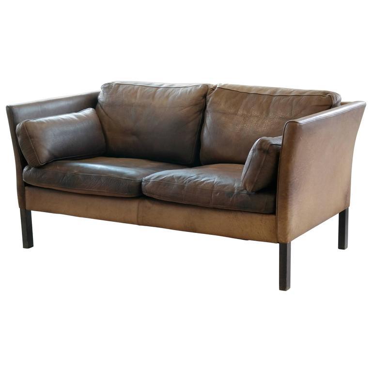Saddle Soap For Leather Sofa: Beautiful Two-Seat Tan And Chocolate Leather Sofa Model