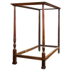 Late 19th Century Mahogany Four Poster Bed
