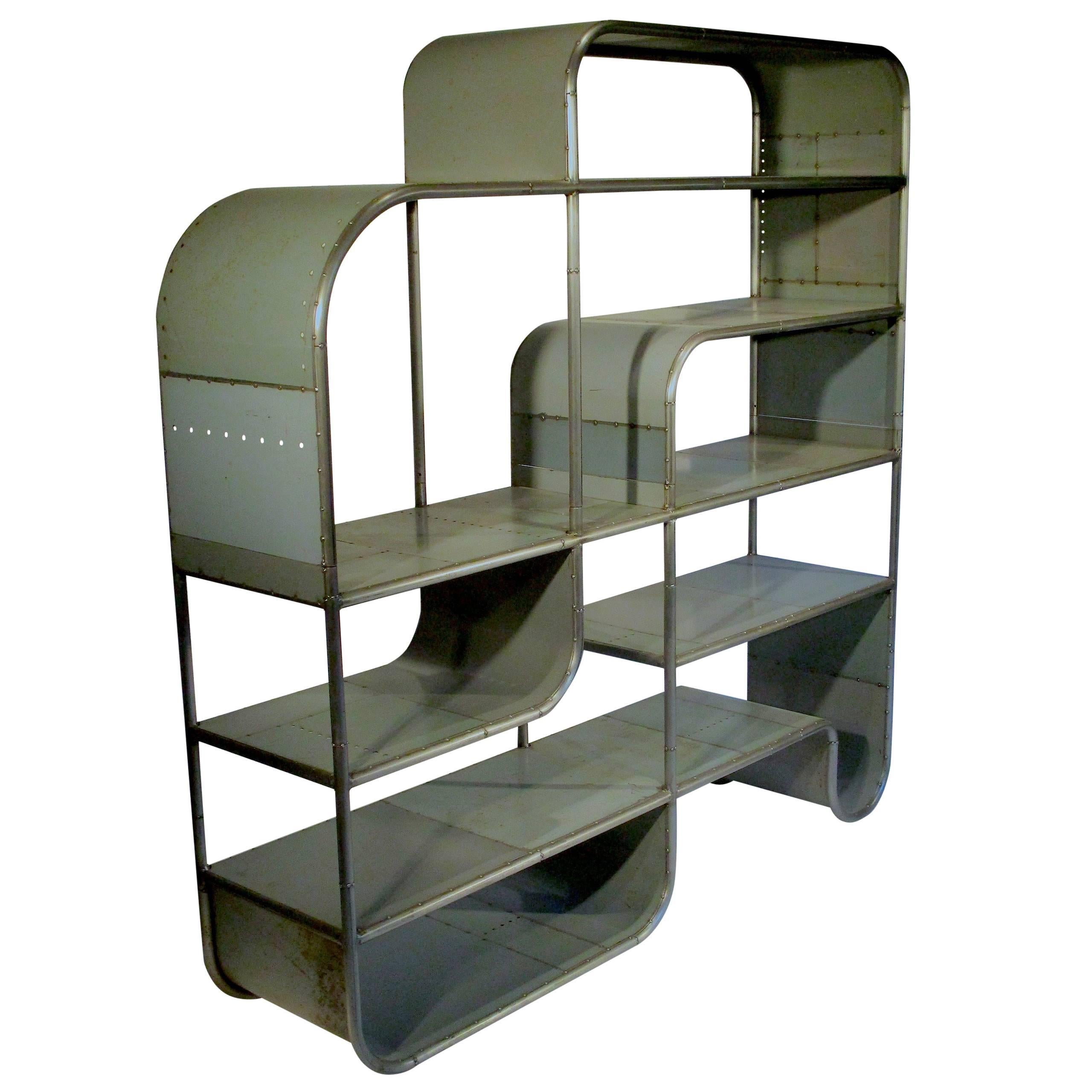 bookcases ladder metal industrial vintage with shelf on bookcase wheels plans