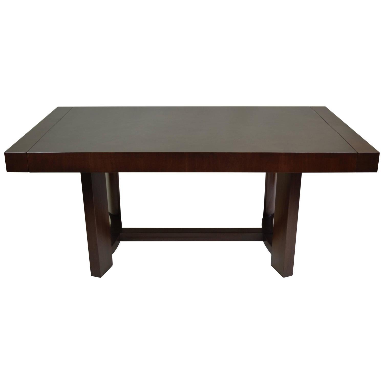 T H Robsjohn Gibbings Mahogany Extension Dining Table Widdi b