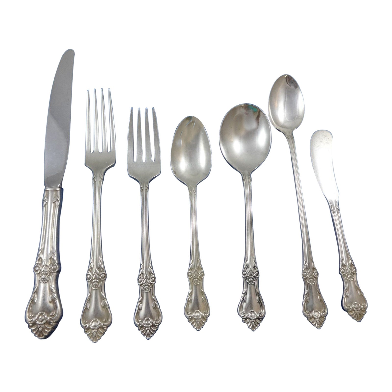 Afterglow by Oneida Sterling Silver Flatware Set 8 Service Lunch 60 Pcs