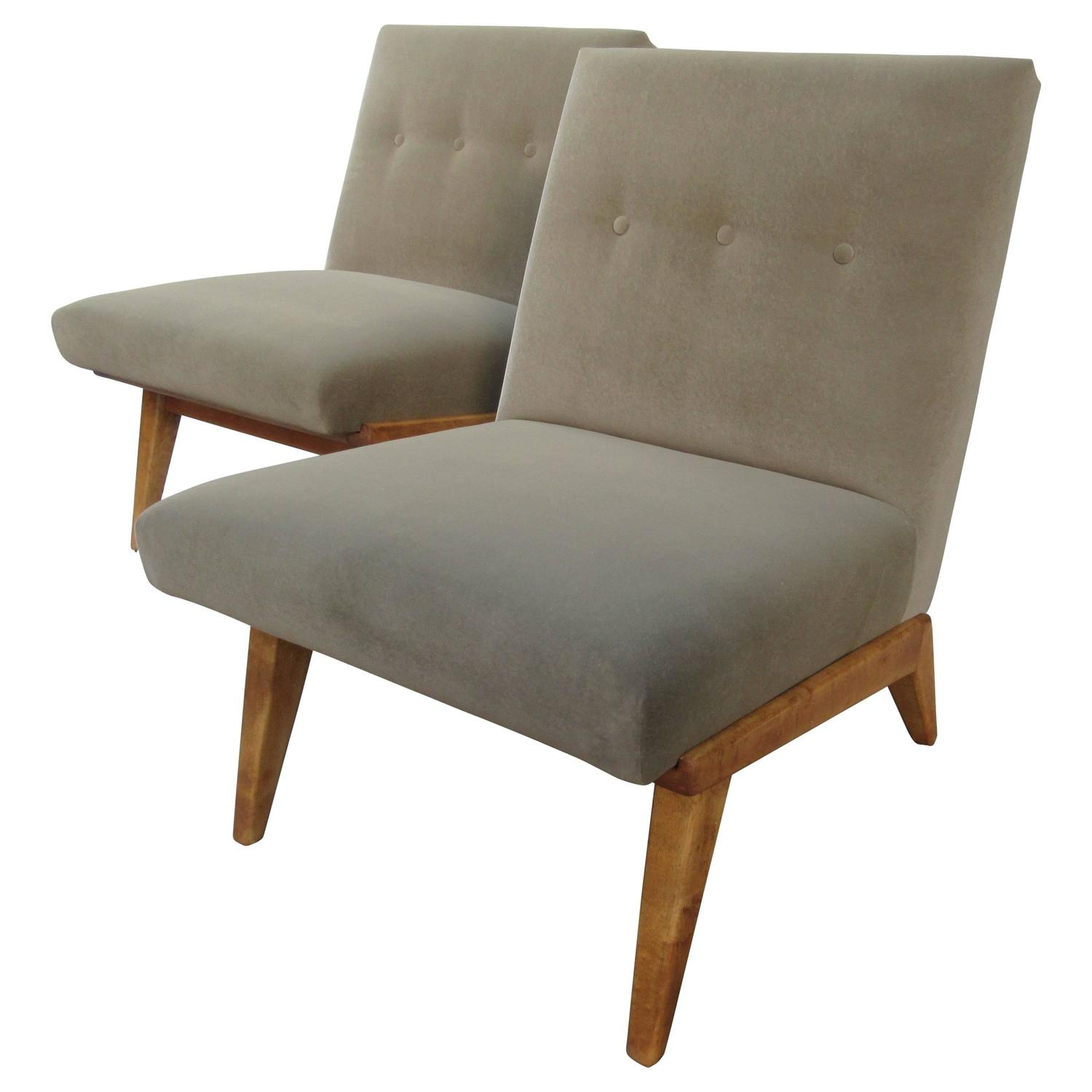 Jens risom for knoll associates pair of lounge chairs for for Knoll associates