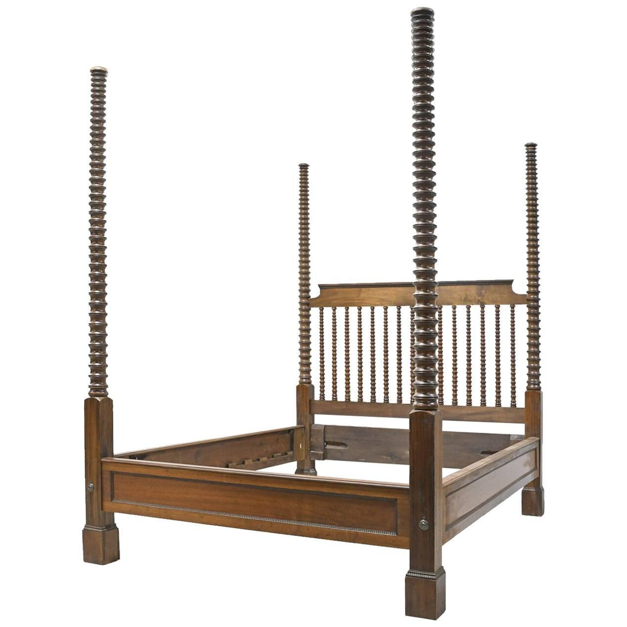 19th century queen size british colonial style american fourposter bed for sale at 1stdibs