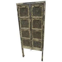Fantastic 1940 Iron and Brass File Cabinet