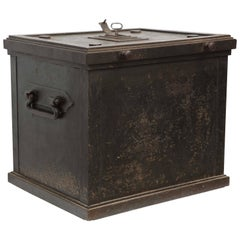 Danish Painted Steelsafe with Hidden Lock, 19th Century