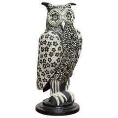 Mark Gagnon Papier Mâché Owl Vase