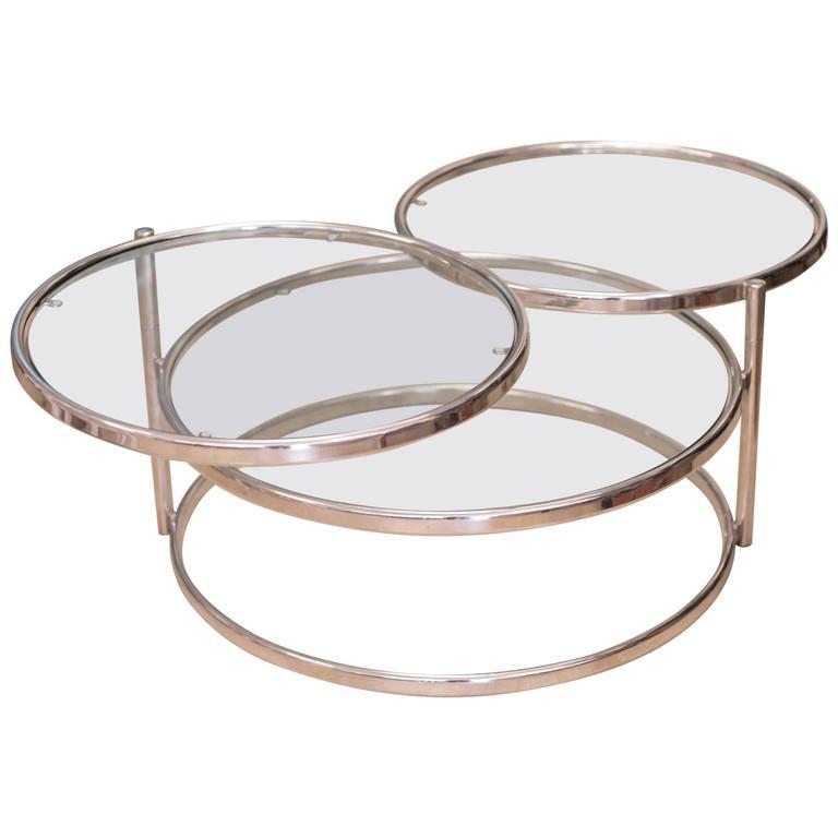 milo baughman swivel coffee table for sale at 1stdibs