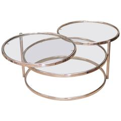 Milo Baughman Swivel Coffee Table