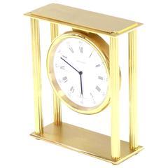 Large Mid-Century Modern Tiffany Mantel Clock