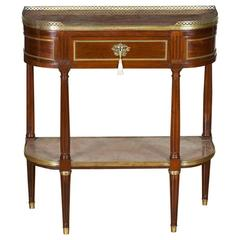 Antique French Marble-Top Table in the Manner of Gabriel Viadot