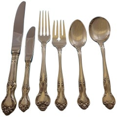 Amaryllis by Manchester Sterling Silver Flatware Set 12 Service Lunch 74 Pieces