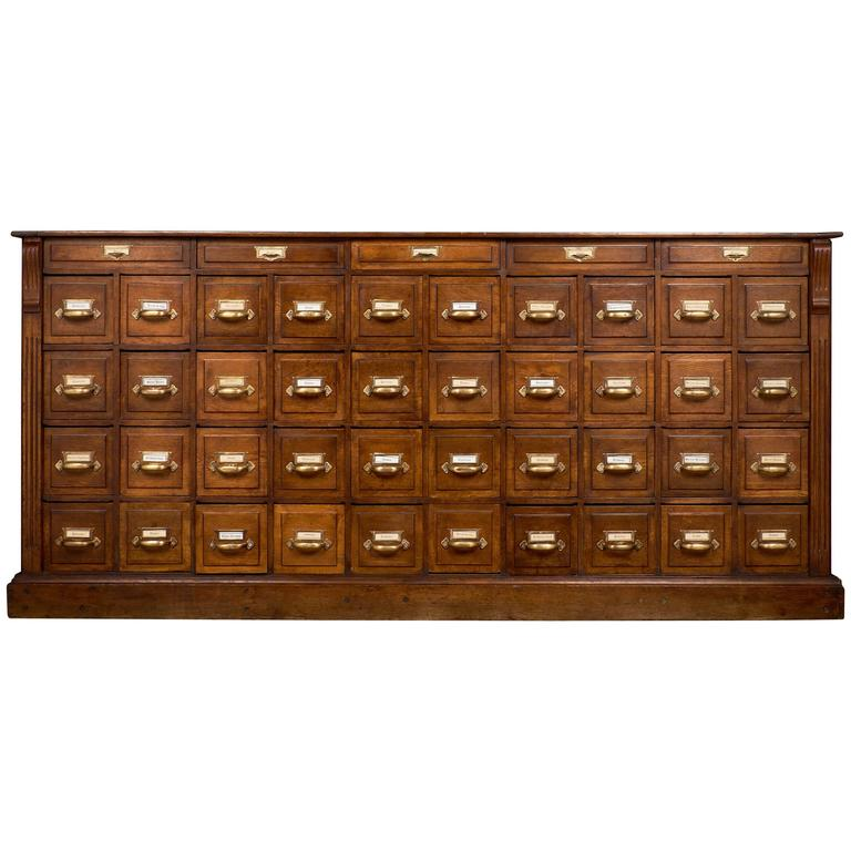 Wonderful Antique French Apothecary Cabinet, Circa 1870 For Sale