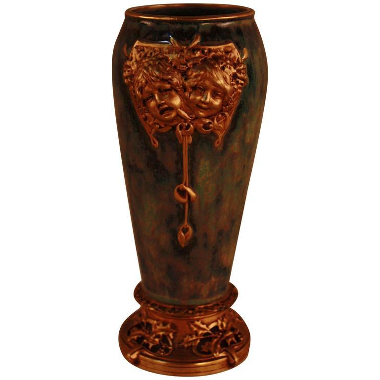 Paris Porcelain Art Nouveau Period Lamp Chinese Taste: Louchet Paris Bronze-Mounted Porcelain Vase At 1stdibs