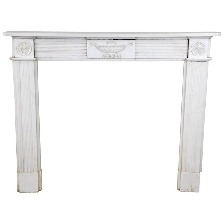 19th Century English Marble Fireplace Surround Mantle