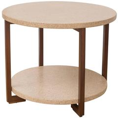 Paul Frankl Cork and Mahogany Table