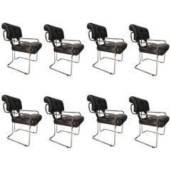 Set of Eight Guido Faleschini Tucroma Dining Chairs by i4 Mariani for Pace