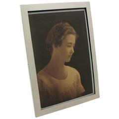 1930s Antique Sterling Silver Photograph Frame
