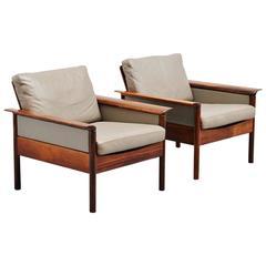 Hans Olsen Easy Chair Pair for Vatne Mobler, Denmark, 1960