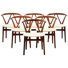 Henning Kjaernulf Dining Chairs Bruno Hansen, 1963