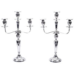 Early 20th Century Pair of Neoclassical Revival Candelabra