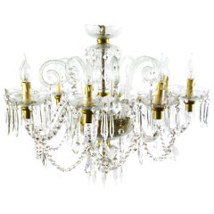Vintage Venetian Eight-Light Crystal Chandelier