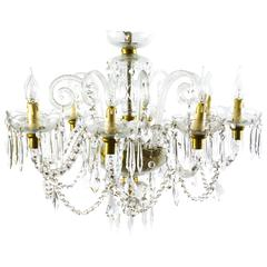 Superb Vintage Venetian Eight-Light Crystal Chandelier