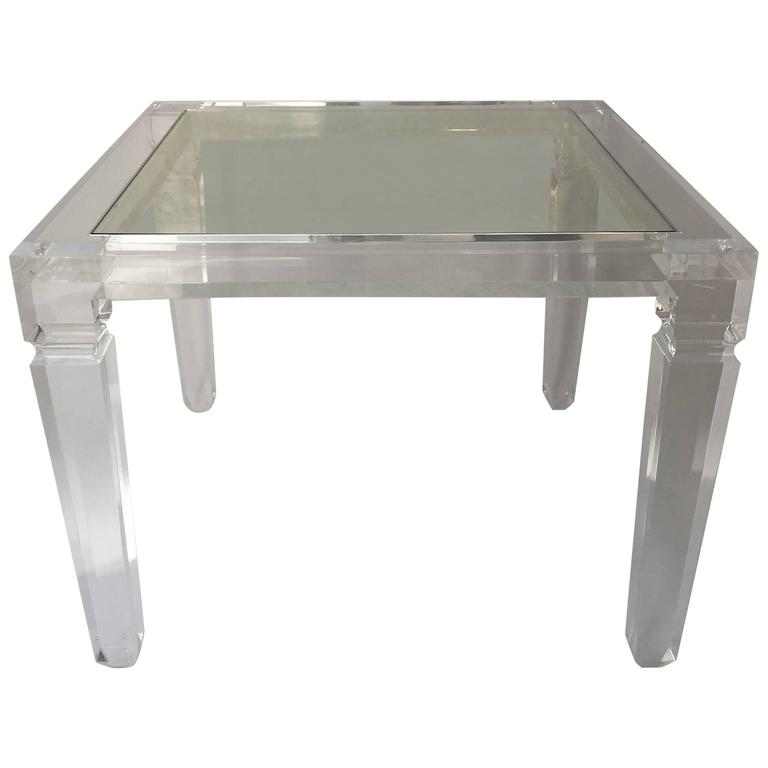 Italian Square Lucite Coffee Table At 1stdibs