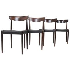 Set of Four Dining Palisander Chairs Attributed to Knud Faerch
