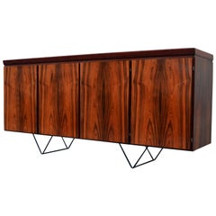 1960s Danish Sideboard on Metal Hairpin Legs, Storage unit by Skovby Møbelfabrik