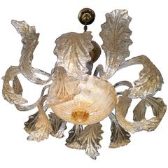Gold Royal Chandelier by Barovier & Toso, 1980s