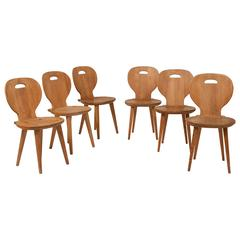 Rare Set of Six 'SörgåRden' Chairs by Carl Malmsten