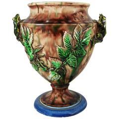 19th Century Majolica Palissy Frog Vase Thomas Sergent