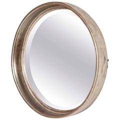 Art Deco Deep Round Mirror by Paul Frankl