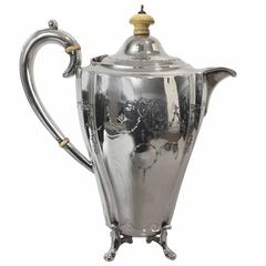 Sterling Silver Tea Pot by Charles Boyton & Son, London, Hallmarked for 1900