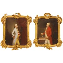 Leopold and Joseph II, Holy Roman Emperor/18th Century Austrian Portrait Pair