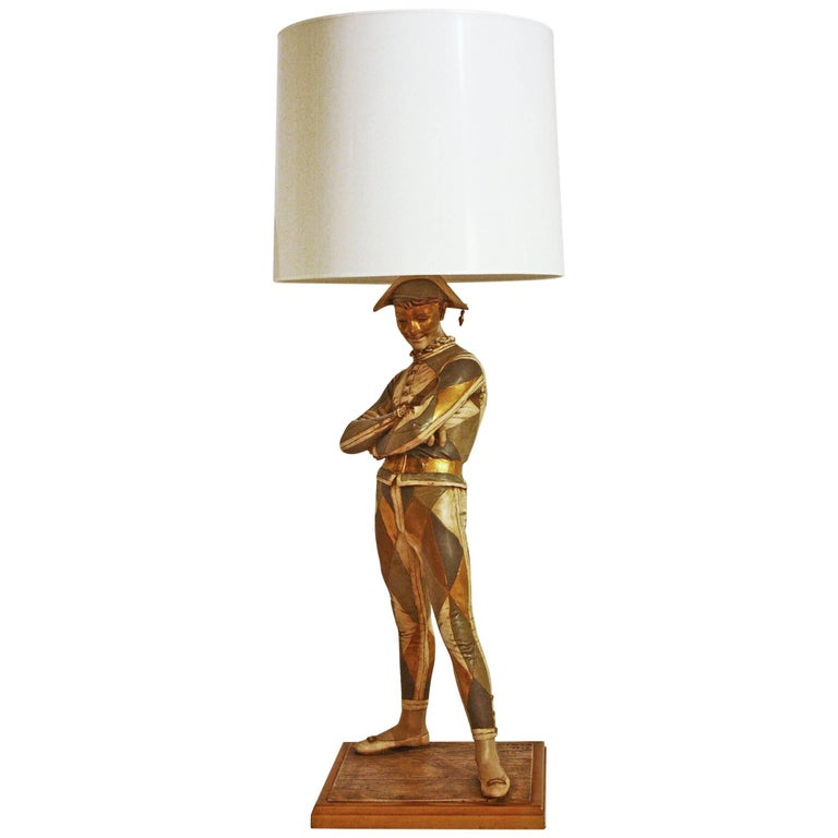 Vintage Midcentury Harlequin Lamp by Marbro For Sale