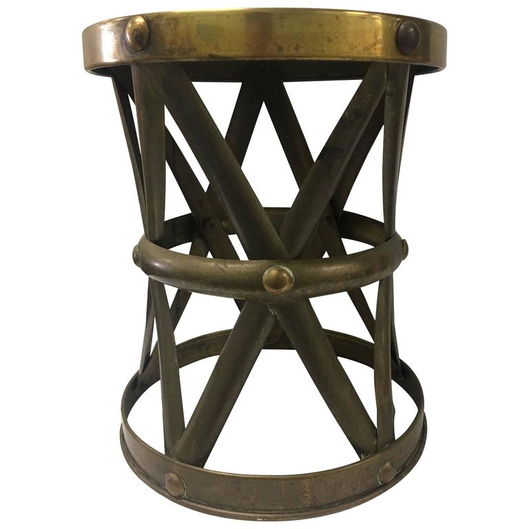 Chinese Brass X Base Drum Stool For Sale at 1stdibs : 6340923l from www.1stdibs.com size 768 x 768 jpeg 42kB