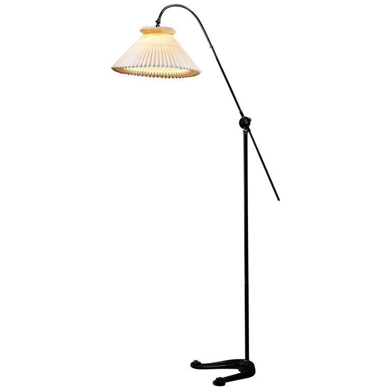 Fog & Mørup Adjustable Metal Floor Lamp, Denmark, 1930s