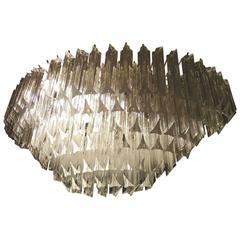 Vintage Cascading Glass Chandelier