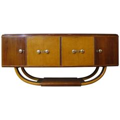 Italian Mid-20th Century Art Deco Credenza or Buffet in Palisander and Maple