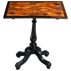 William IV Specimen Wood Inlaid Rectangular Occasional Table