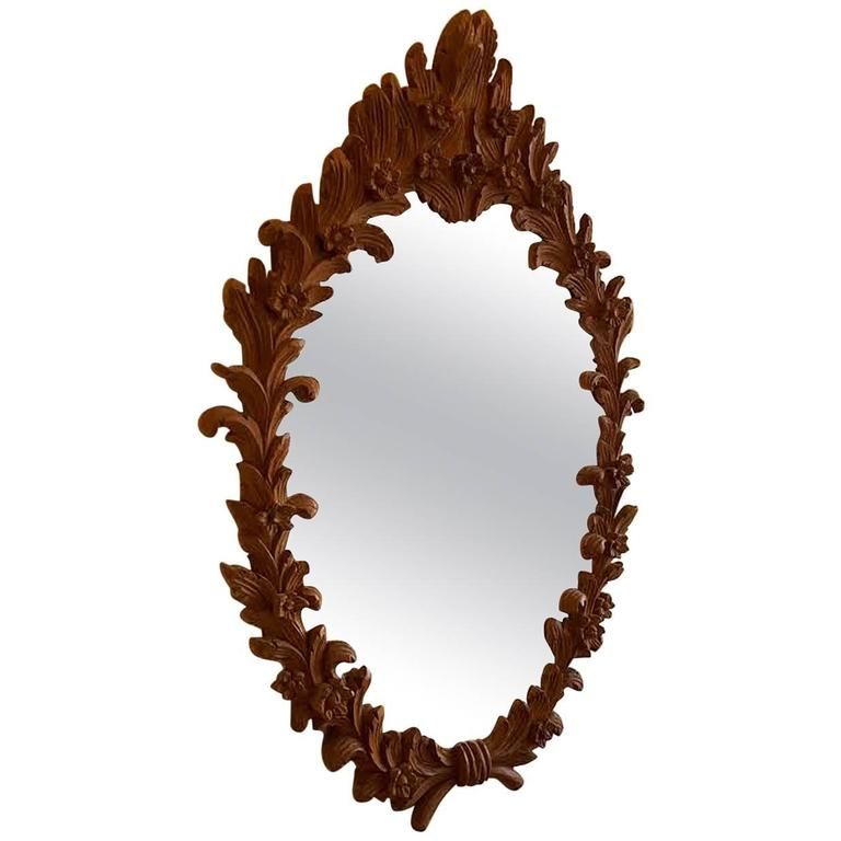 Carved Wood Mirror 1