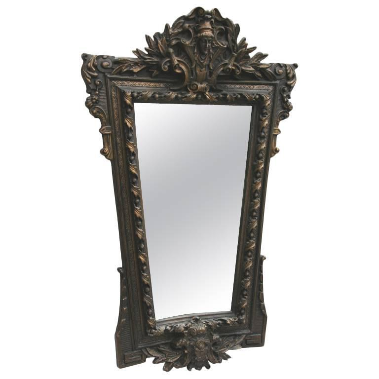 Ornate Figural Italian Mirror For Sale