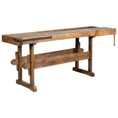 Antique 19th Century Carpenter's Workbench from Denmark