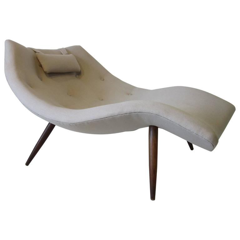 Rare adrian pearsall chaise lounge chair for sale at 1stdibs for Curved lounge