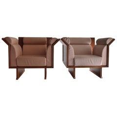 Rosewood Arm Chairs by Ugo La Pietra